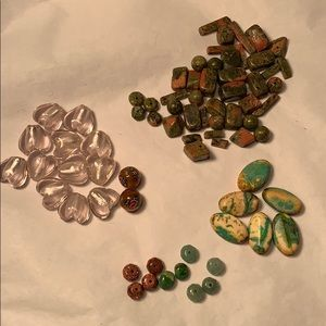 Jasper, Murano glass, Turquoise, Jade, Sand loose